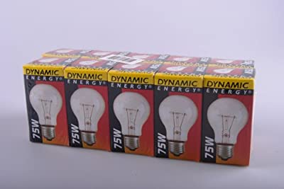10 x Glühbirnen/Glühlampe/Glühbirne 75 Watt E 27 DYNAMIC ENERGY