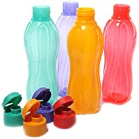 Tupperware Aquasafe Flip Top Bouteille 500 ml chaque, Lot de 4