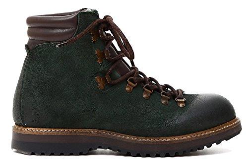 AMPHIBIEN CAF Noir Chaussures LQD601 Hommes Verts avec des Inserts en CROûTE