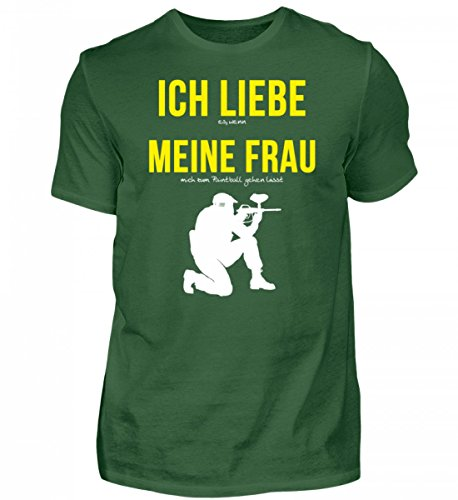 Hochwertiges Herren Shirt - Ich Liebe Meine Frau Spruch - Paintball Spruch Tshirt