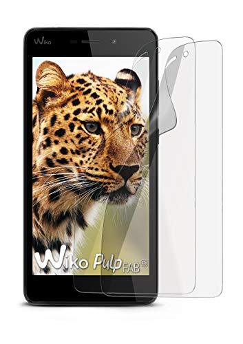2X Wiko Pulp Fab 4G | Schutzfolie Matt Bildschirm Schutz [Anti-Reflex] Screen Protector Fingerprint Handy-Folie Matte Bildschirmschutz-Folie für Wiko Pulp Fab 4G Bildschirmfolie