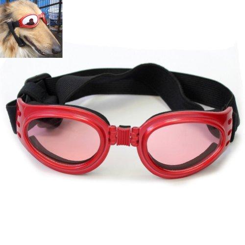 Namsan Rot gerahmt Hundewelpen UV-Schutzbrillen Sonnenbrillen Brillen Pet Sun Glasses, Halb