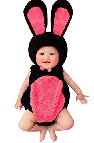 Piccoli monelli costume neonata coniglietta 3-12 mesi vestito di carnevale o per fare fotografie caldissimo in pile