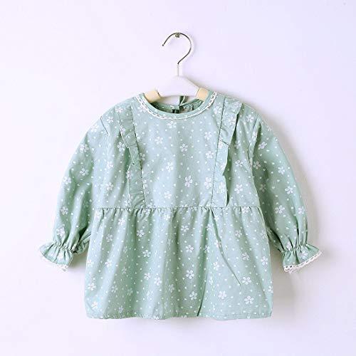 Bavaglini impermeabile morbido maniche, a maniche lunghe, per pittura, Toddler Baby Feeding unisex bavaglini xl Green