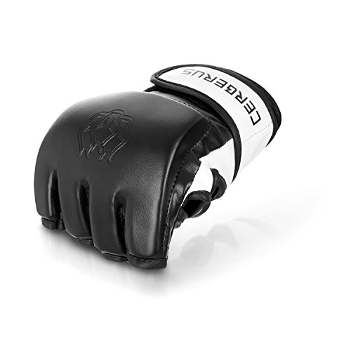 MMA Handschuhe Profi Boxhandschuhe - hochwertige Qualität - perfekt für Mixed Martial Arts UFC, Boxen, Freefight, Grappling, BJJ, Krav MAGA - schwarz (M)
