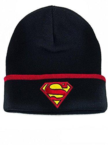 Loomiloo -  Berretto in maglia  - Donna Superman Schwarz