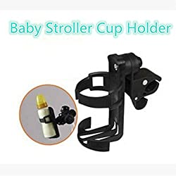 Ocamo Baby Stroller Cup Holder Rotating Bottle Rack for Kids Cup Holder Trolley Bicycle Water Bottle Holder Black