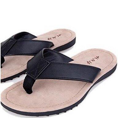 Da donna?s pantofole & flip-flops Comfort PU Estate informale comfort Nero piatto bianco US7 / EU39 / UK6 / CN39