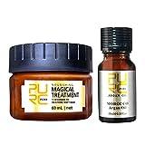 Repair Hair Mask Conditioner + HaarpflegeöL Set Diffusion MoleküL Befeuchtendes äTherisches ÖL HaarspüLung Haarpflegemittel Vitalregeneration HaarwuchsflüSsigkeit