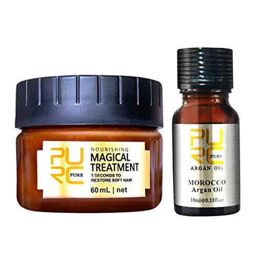 Advanced Molecular Hair Root Treatment Hair Mask, Olio essenziale per la cura dei capelli, riparare capelli secchi danneggiati o ricci, adatti a tutti i tipi di capelli
