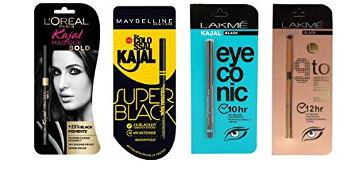 new eyeliner kajal combo of 4 with free delivery