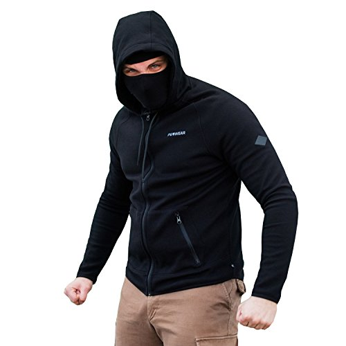 "PG Wear \""Hool\"" Sweatjacke mit integr. Maske (XXXL)"
