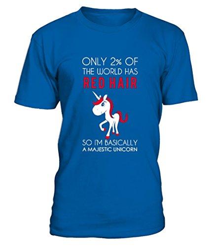 teezily Redhead Shirt Unicorn Majestic Shirt T-Shirt Unisex