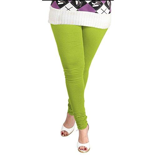 Lux Women Cotton Leggings -Parrot Green-L 15 -Free Size