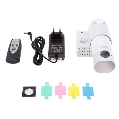 Sharplace Analoge Projektionsuhr Projektionswecker Projektion Wanduhr für Wohnzimmer Schlafzimmer - mit Remote-Weiß
