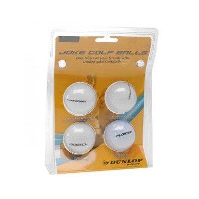 Dunlop Joke Balls 4pk Golf Streamer Floater Woball Smoke Scren Funny Golf Balls by Dunlop - Dunlop Golf Irons