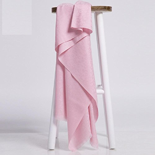 GJX@ Hommes et femmes léopard agneaux Jacquard laine foulards hiver châles double usage Pink