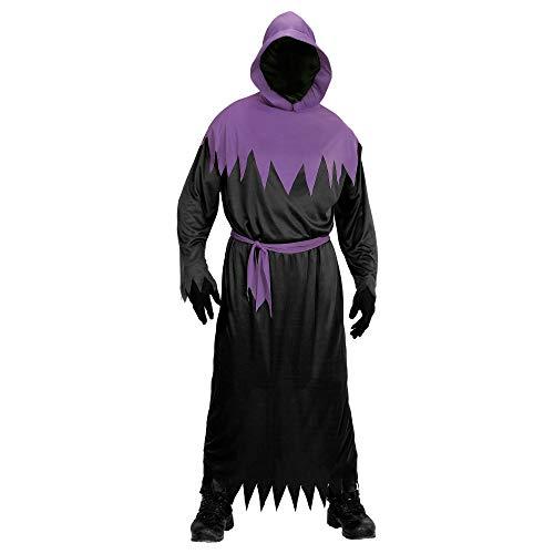 Widmann 00102 - Erwachsenenkostüm Phantom, Robe mit Kapuze und unsichtbarer Gesichtsmaske, Gürtel, Größe M, schwarz