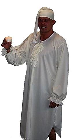 Kostüm mit Nachtgewand und Bettmütze, Motiv Ebenezer Scrooge aus Charles
