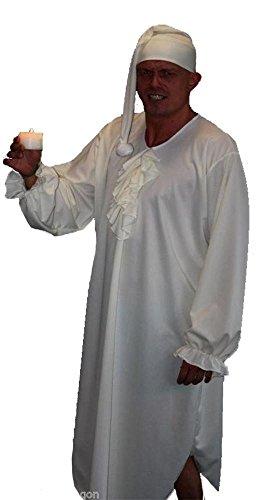 Kostüm mit Nachtgewand und Bettmütze, Motiv Ebenezer Scrooge aus Charles Dickens'