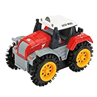 sunnymi Electric Toy Car, Dump Truck Four-Wheel Drive Off-Road Climbing Rotation Stunt Vehicle Model Car - Boy Girl Kids