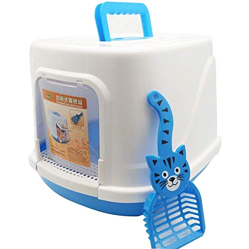 Cat Litter Tray,Fully Enclosed Extra Large with Shovel Litter Box, Cat Toilet, Venting, Filter Layer, L 19''×W 15.7''×H 13.3''