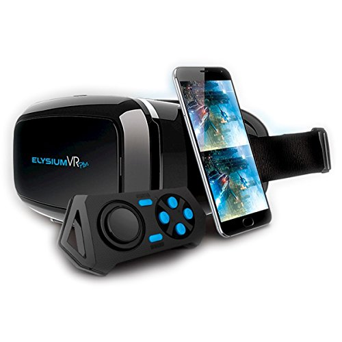 GOCLEVER ELYSIUM VR PLUS - VR 3D Virtual Reality Brille mit gratis Bluetooth Controller
