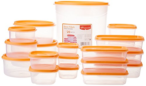 Home / Shop / Home and Kitchen / Kitchen and Dining / Kitchen Storage and Containers / Jars and Containers  sc 1 st  Feedlinks.net & Princeware SF Tal Pak Plastic Container Set 20-Pieces Orange ...