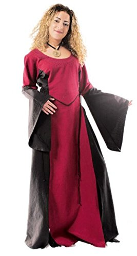 leider kleine Maid - Kinder Marktkleid - Kinder Catriona für 12-14 jährige/bordeaux / schwarz (Halloween Kostüme Für 11 12 Jährige)
