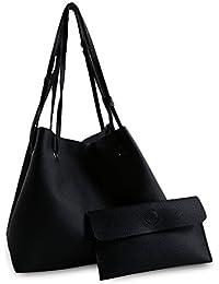 Hannea Stylish Simple PU Bucket Bag Handbag For Women