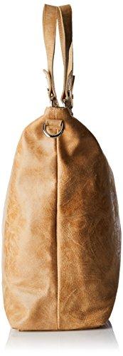 Damen 80055 Umhängetasche, Orange (Cuoio), 47x34x15 cm Chicca Borse