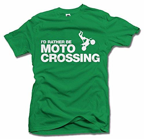 I'D RATHER BE MOTO-CROSSING White Men's Tee (6.1oz) (Tee X-mens Moto)