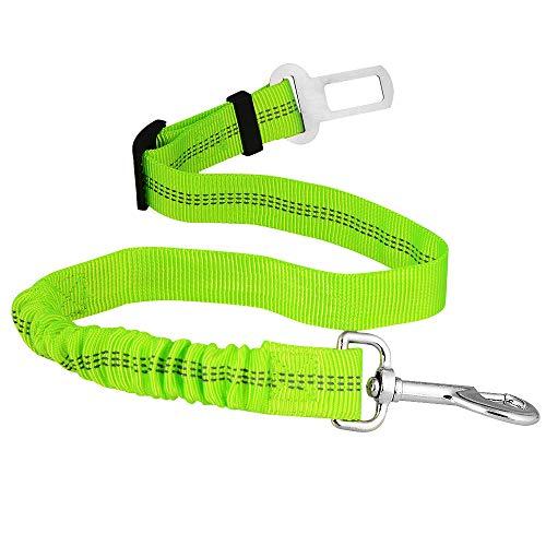 AUDICK Universal Anti-Shock & Einstellbarer Hunde Sicherheitsgurt für Auto Elastischer Leinengurt mit Bungee Buffer Passend für alle Hunderassen & Auto-Sicherheitsgurtverschluss -