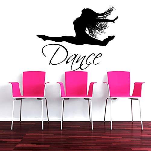 Künstler Mädchen Tänzer Tanzen Silhouette Kunst Wandaufkleber Home Mädchen schlafzimmer DIY Wall Special Decor Vinyl Wandtattoos Wandbild 84 * 108 cm -