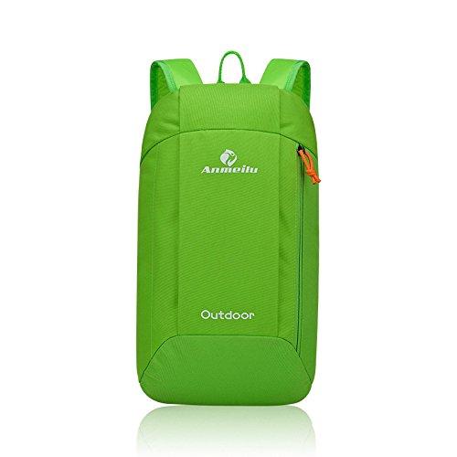 Inovey 10L Outdoor Spalla Zainetto Unisex Borsa Morbida Sport Campeggio Escursionismo-Nero Verde Verde