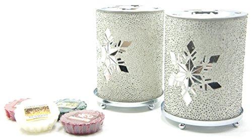 2x Offizielle Yankee Candle Funkeln Schneeflocke Wax Melt Wärmer Brenner gehören 6x Sortiert Weihnachten Festive Season Tarts