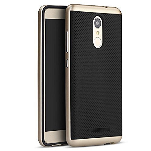 iPaky Luxury Ultra-Thin Dotted Silicon Back + PC Frame Bumper Back Case Cover for Xiaomi Redmi Note 3
