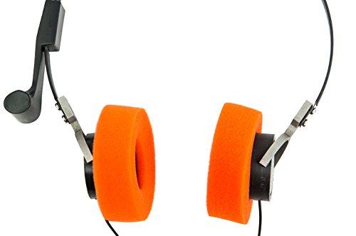 Lord Cosplay Star Kostüm - Pandacos Star-Lord Kopfhörer Cosplay Walkman Authentischer HiFi-Kopfhörer mit orange Ohrpolster Stahlgitter Kostüm Zubehör (A)