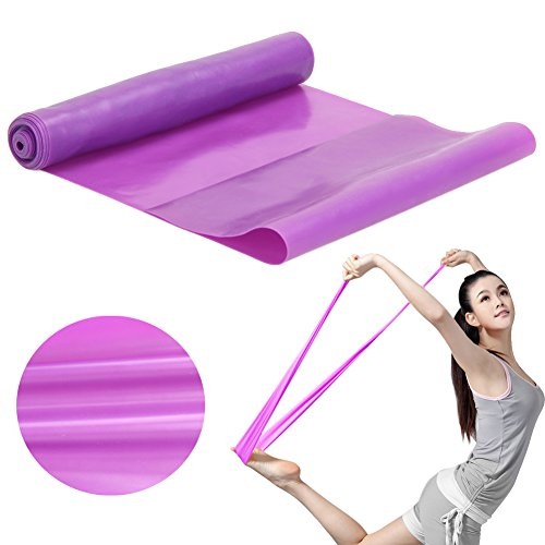 NimbleHouse (TM) 1.5m Yoga Pilates Rubber Stretch Workout Fitness Band...
