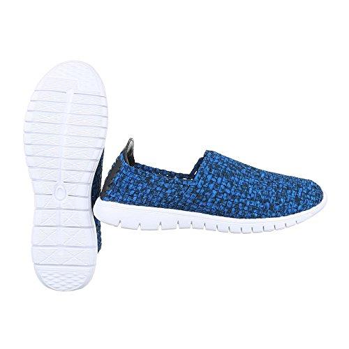 Ital-Design , Mocassins pour homme Blau DSC001-4