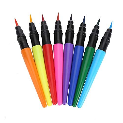 Malerei Pinsel Set - 8 Farben Körper Malerei Stift Set Kunst Aquarell Zeichenstift, auf Wasser basierender gemalter Stift geeignet für Maskerade Festival Aktivitäten Halloween