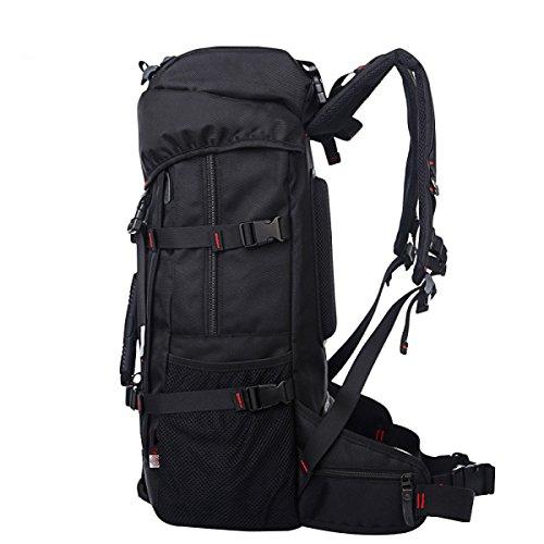 GAOLIXIA Große Kapazität Reiserucksack Im Freien Freizeit Mode Trends Tragbaren Multifunktionale Bergsteigen Taschen Schwarz Black