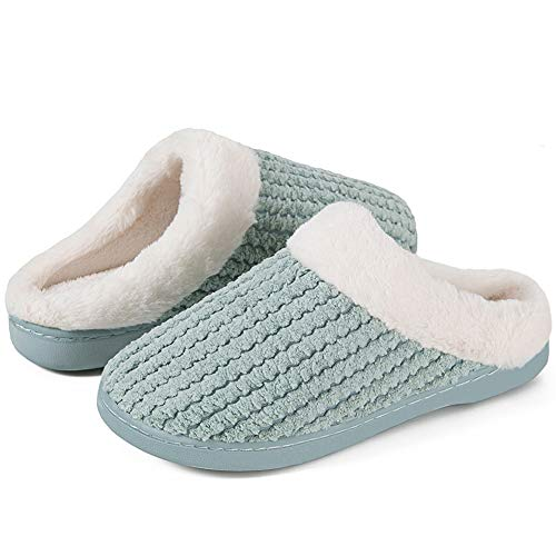 IceUnicorn Winter House Slippers Womens Mens Memory Foam Slippers Comfort Plush Fleece Lined Slipper Anti-Slip for Indoor Outdoor
