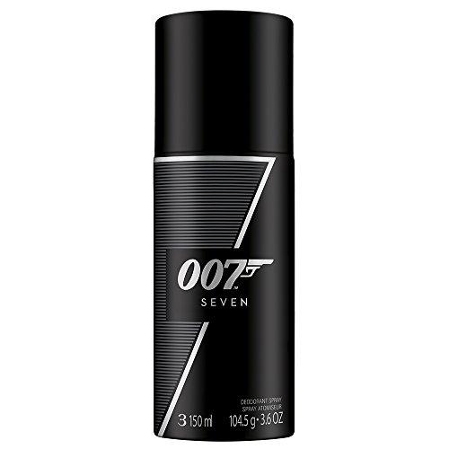 James Bond 007 Seven - Deodorant Spray - Fruchtig-würziges Herren Deo für den gewagten und eleganten Auftritt - 1er Pack (1 x 150ml) - Rose Anti Perspirant