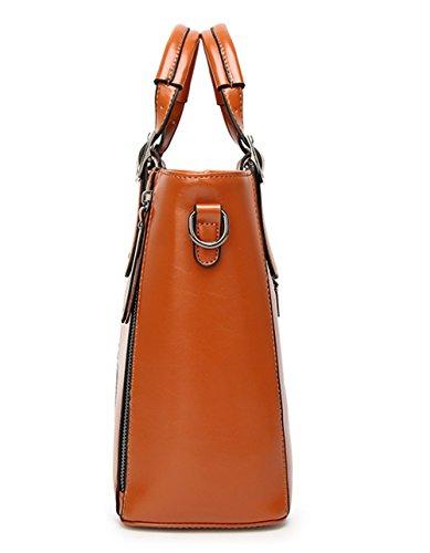 Xinmaoyuan Borse donna Borsetta tracolla messenger bag cera Olio di cucitura della pelle Borsa da donna Brown