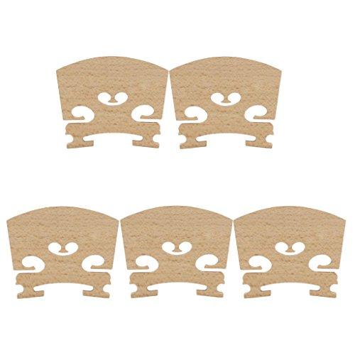 Homyl 5pcs STEG für 4/4 Violine, Geigensteg Violinensteg Brücke Bridge Holz 5 × 0,5 × 4 cm