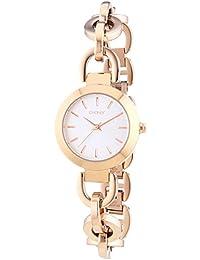 DKNY  NY2135 - Reloj de cuarzo con correa de acero inoxidable para mujer, color rosa