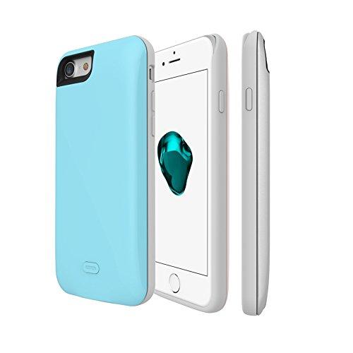 SYR chargeur de batterie Cases pour iPhone 7, Neuf Demi Lot batterie de secours externe Chargeur de téléphone portable Coque pour iPhone 7 blanc