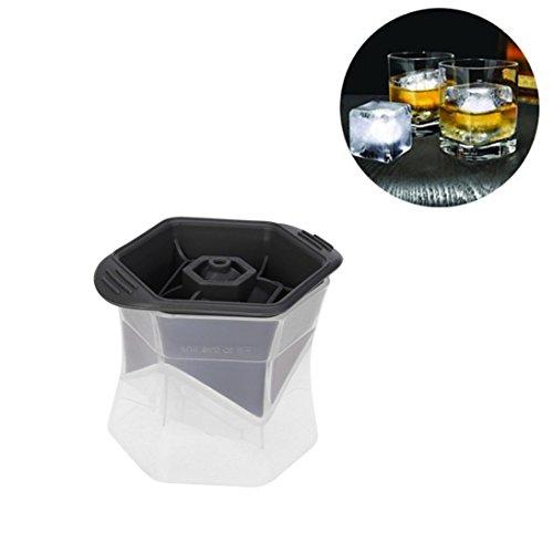 e Ball Maker Form schafft Perfekte 2,5eckig rund ICE CUBE Bälle A weiß (Diamant Eis-würfel-behälter)