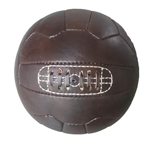Antik Leder Fußball mit Schnürsenkel-Nachbildung der Bälle verwendet in 1950's-Einzigartiges Geschenk für Fußball Fans, Antique Brown Leather